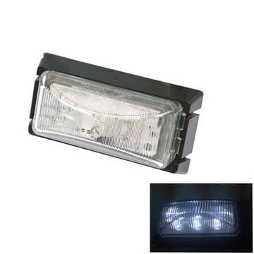 8 x 12v to 30v WHITE SIDE MARKER 6 LED LIGHTS trailer lamps truck 'E' approved